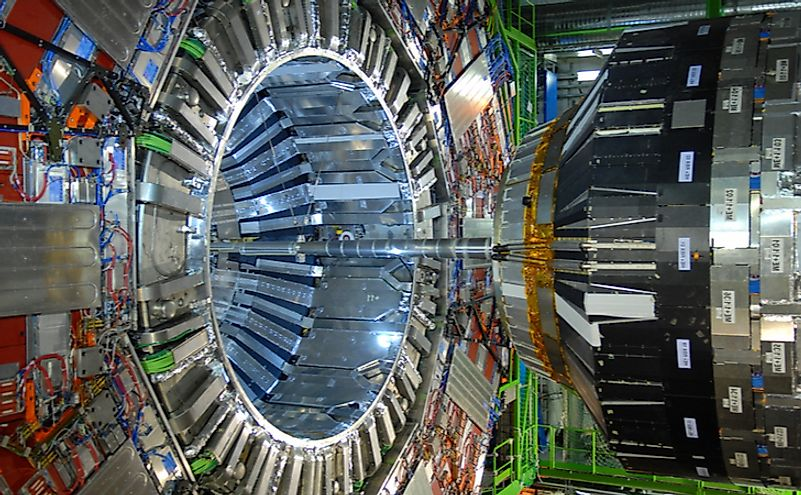 The ​Large Hadron Collider ​(LHC) at CERN. Editorial credit: D-VISIONS / Shutterstock.com