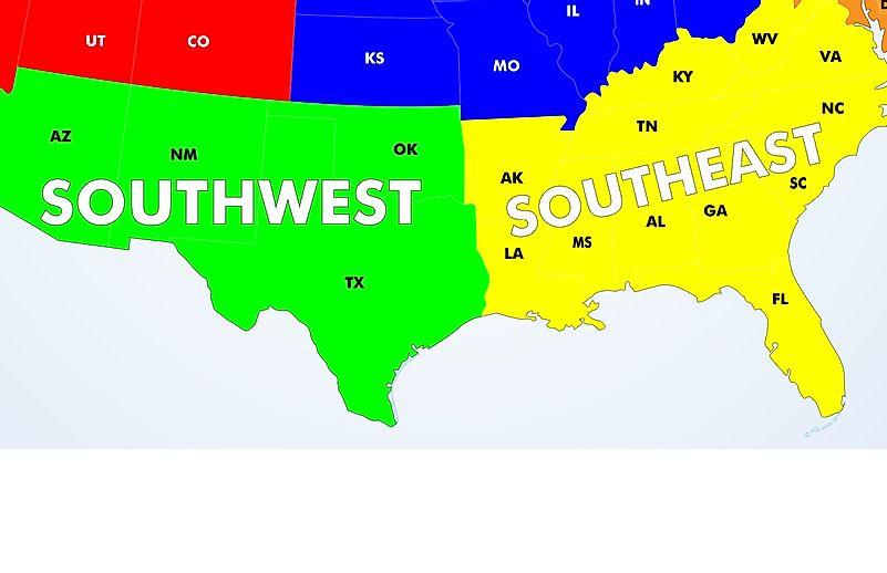 The Regions of the United States - WorldAtlas.com