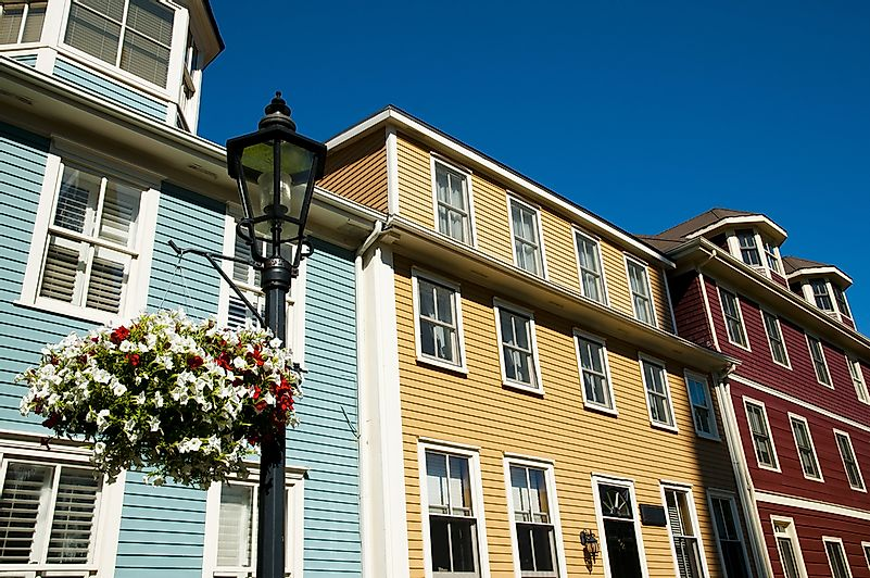 Colorful houses in Charlottetown.