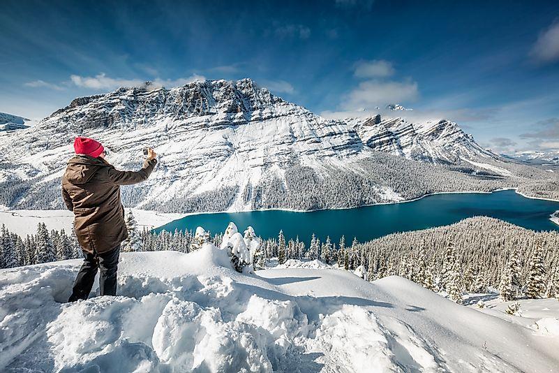 Near Peyto Lake, Banff, Canada.
