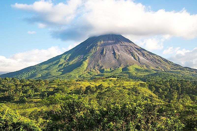 The dormant Arenal volcano.