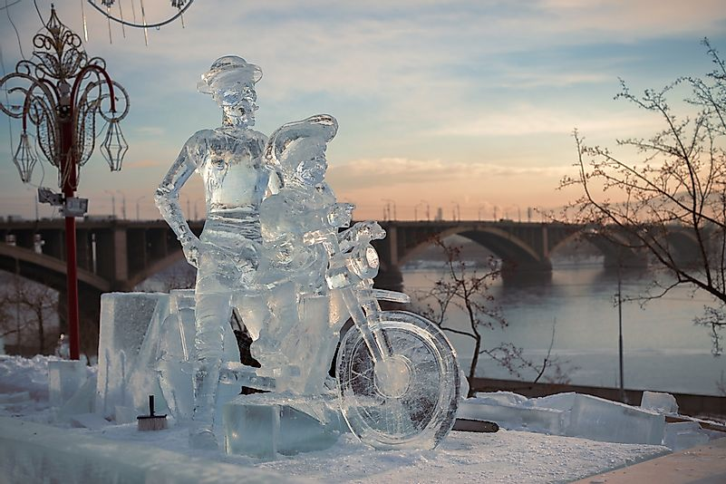 #7 International Festival-Competition of Snow and Ice Sculpture - Krasnoyarsk