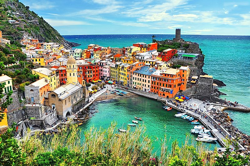 The famous Cinque Terre in Italy is on the Ligurian Sea.