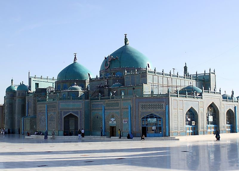 The blue mosque of Mazar-e Sharif.