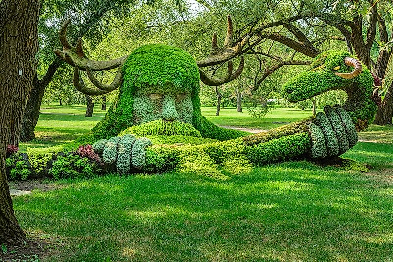 A sculpture in the Montreal Botanical Gardens.