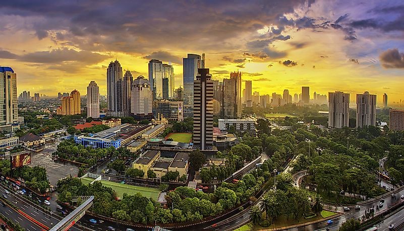 Jakarta, Indonesia's capital city, is locate on the island of Java.