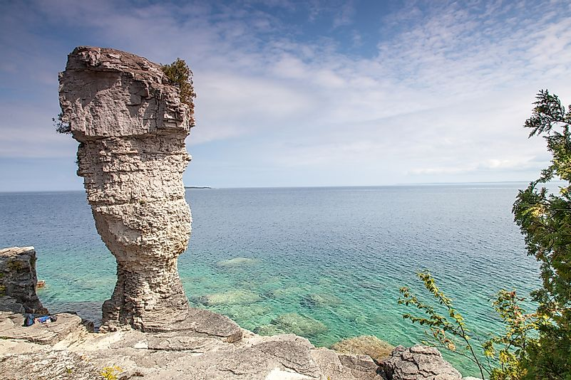 The famous Flower Pot Island at Tobermory.