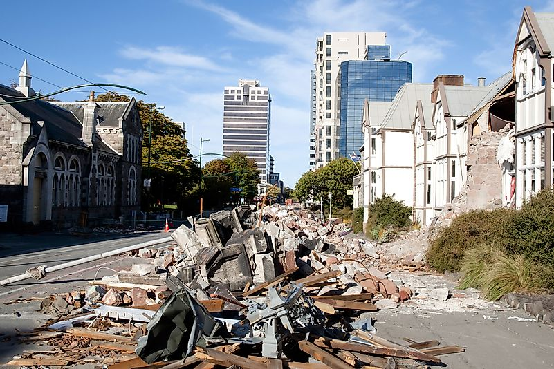 Damage from the 2011 Christchurch earthquake in New Zealand.