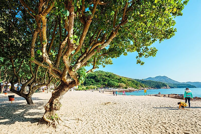 A public beach in Hong Kong.
