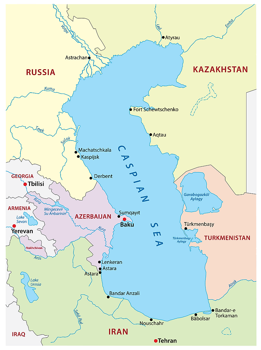 Caspian Sea is actually the world's biggest lake and not a sea