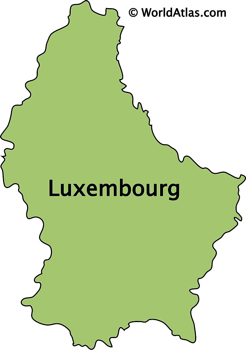 Outline Map of Luxembourg