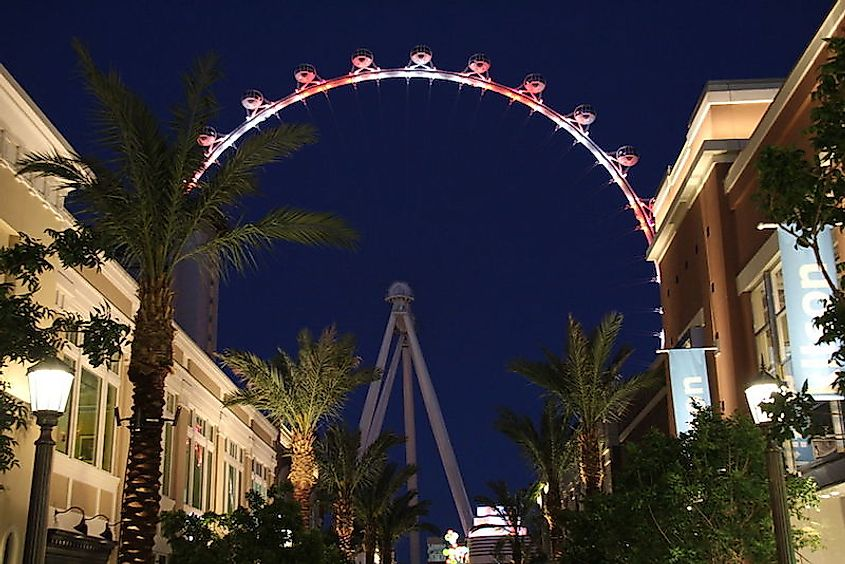 The Las Vegas High Roller is the tallest Ferris wheel in the world