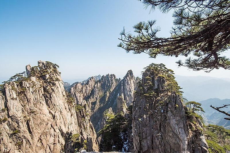 Craggy peaks in the Qin Mountains.