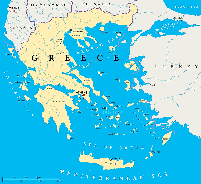 Sea of Crete map