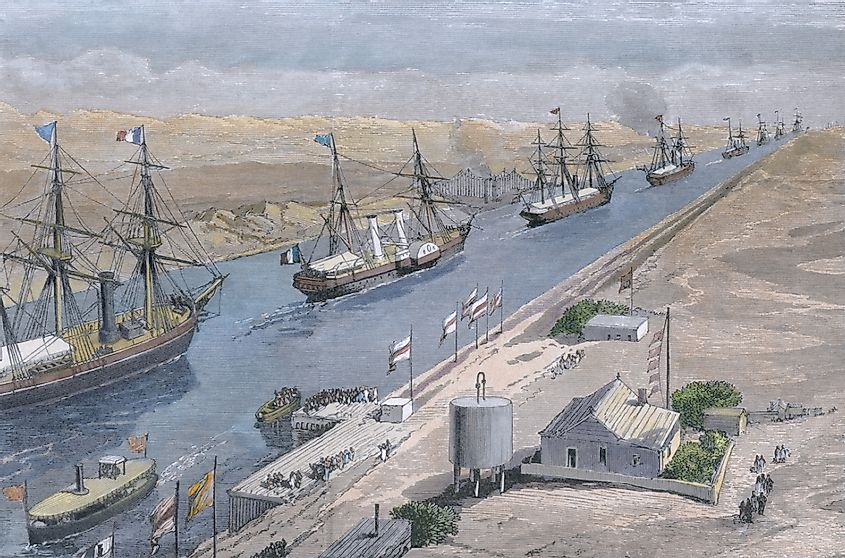Opening of the Suez Canal on Nov 17 1869