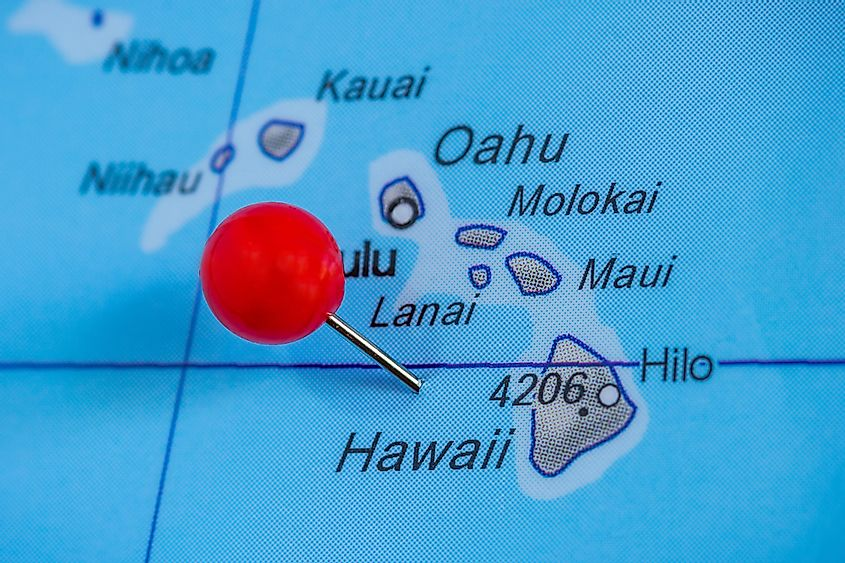 Hawaii is composed of a cluster of 8 main islands and numerous smaller islands.