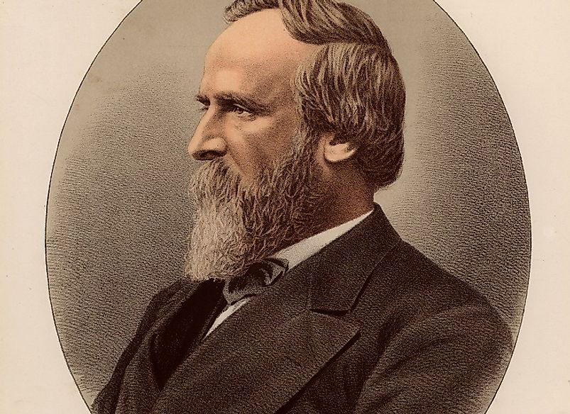 An 1880 portrait of Rutherford B. Hayes while he was still in the White House.