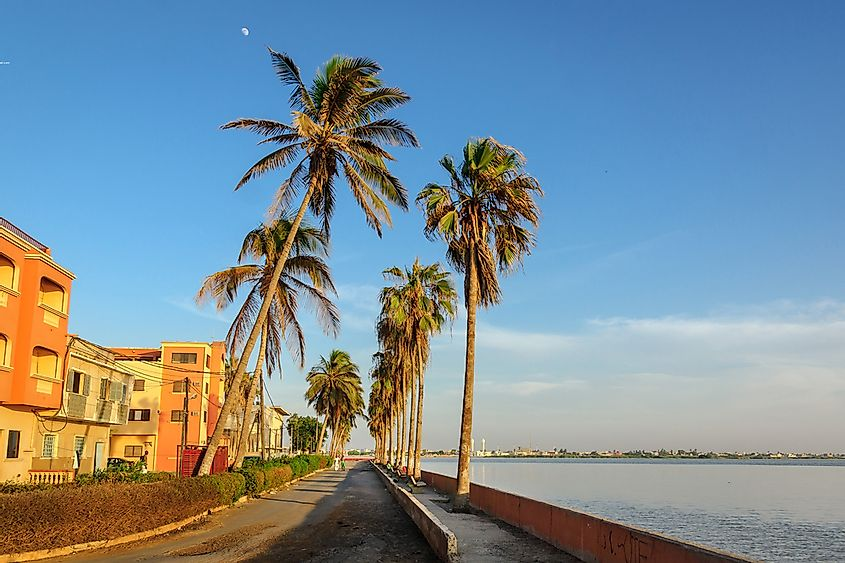 A costal street in Saint-Louis, Senegal.