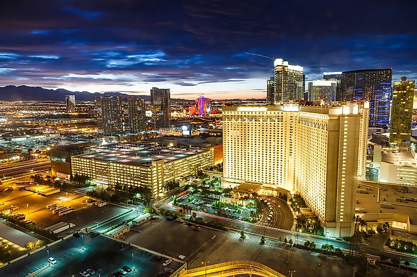 The Las Vegas Strip In The US Is The World's Most Popular Tourist Destination With 39,668,221 Annual Visitors.