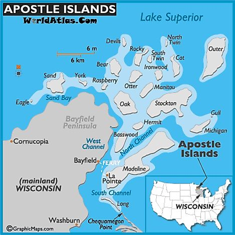 Apostle Islands map