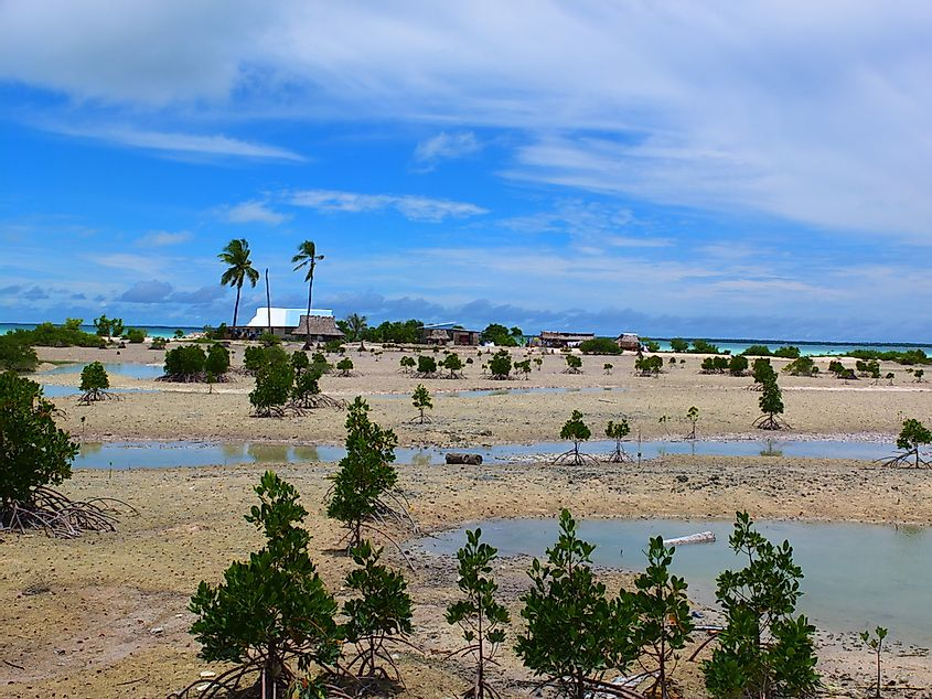 The landscape of Kiribati has been greatly affected by climate change.