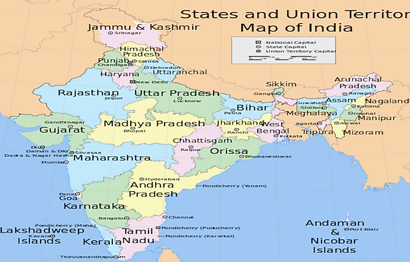 States and State Capitals Of India