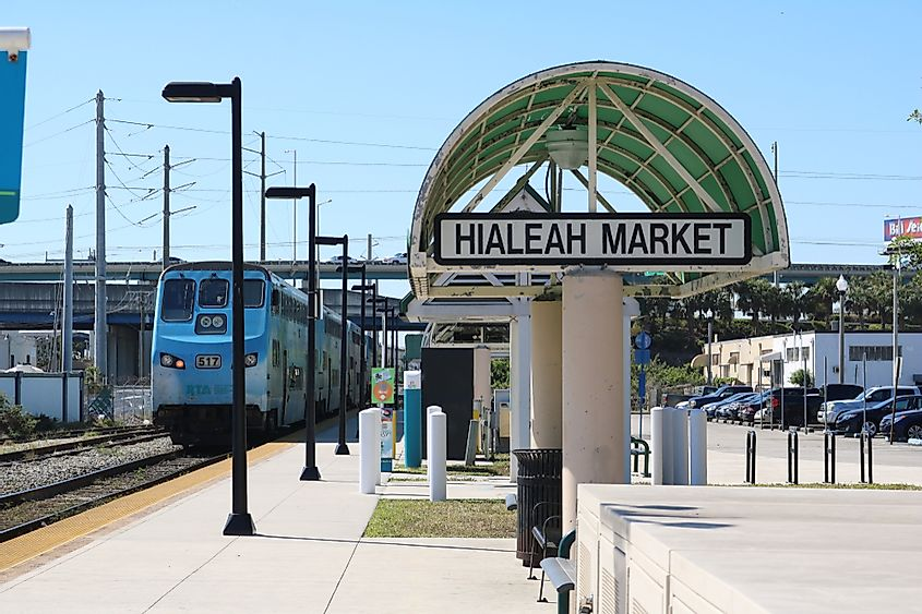 According to the American Community Survey of the US Census, Hialeah, Florida has the highest number of immigrants.