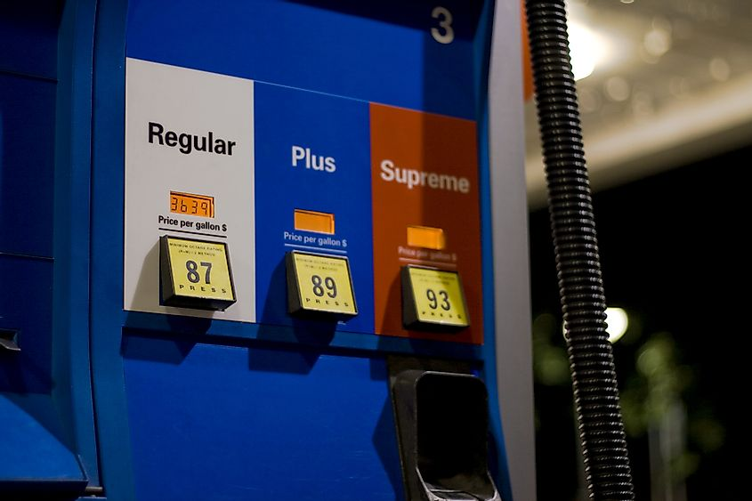 Hawaii has the highest regular gasoline price because of lack of natural resources.
