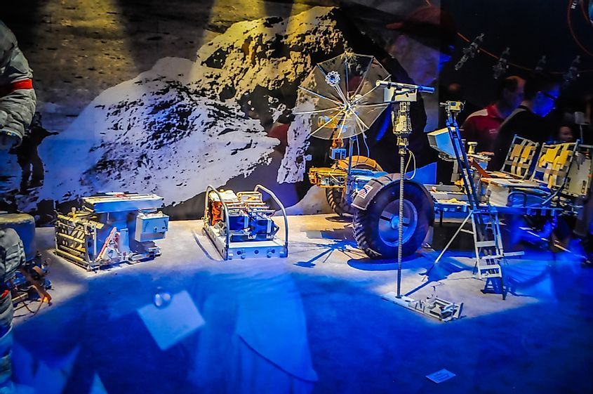 A replica of Lunar Roving Vehicle at the Smithsonian Air and Space Museum.