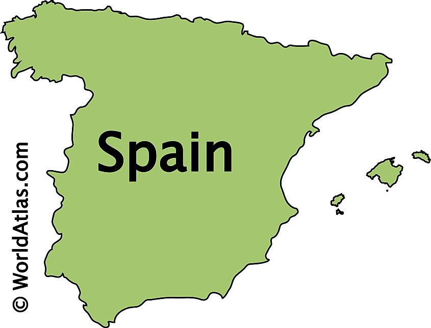 Outline Map of Spain