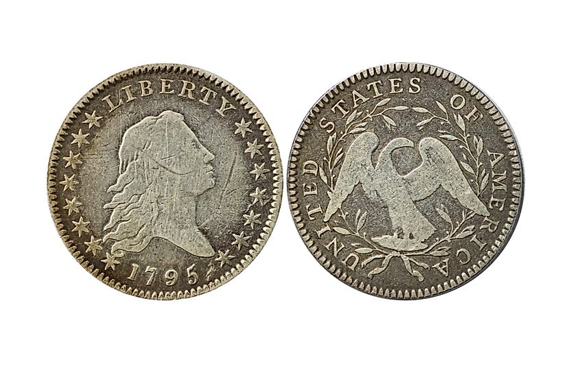 The Flowing Hair Dollar, minted in 1794, was sold for $10,016875 in 2013.
