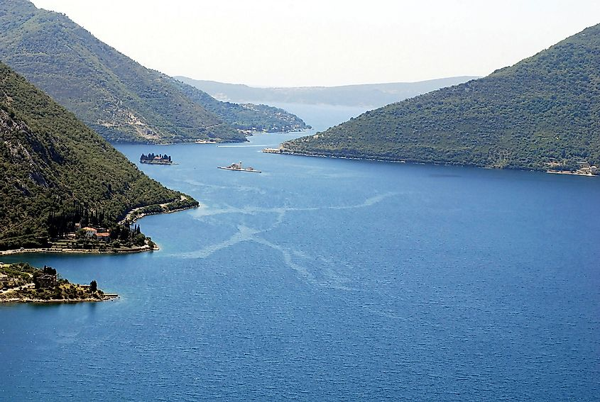The Bay of Kotor, a coastal inlet in the southern Adriatic Sea.