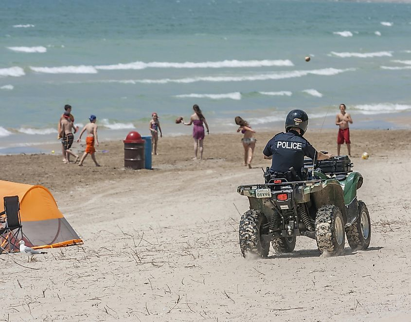 Law enforcement aims to keep the park safe and orderly for beach-goers at Sandbanks Provincial Park in Prince Edward County, Ontario.