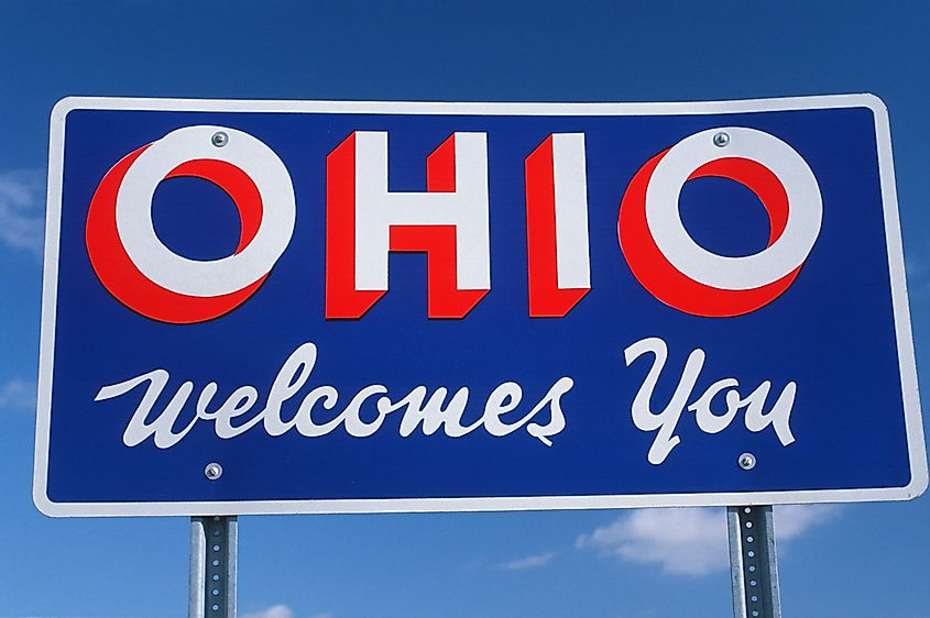 """Welcome to Ohio"" sign."