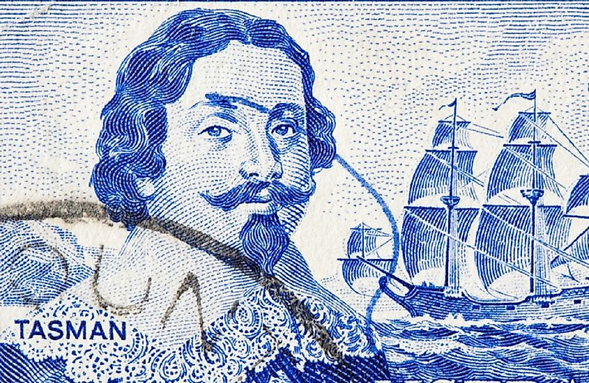 Dutch merchant and sailor Abel Tasman was credited with discovering Tasmania and New Zealand, and first sighting Fiji.