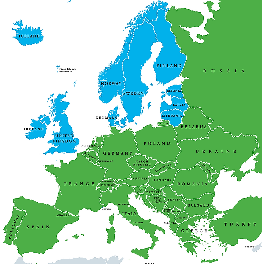 The Countries Of Northern Europe Worldatlas