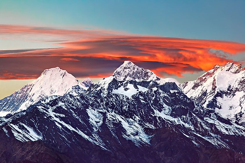 Manaslu, one of the world's tallest mountains.