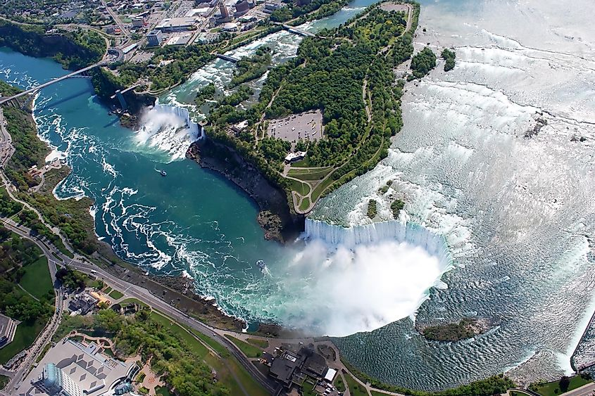 Niagara Falls from Helicopter view