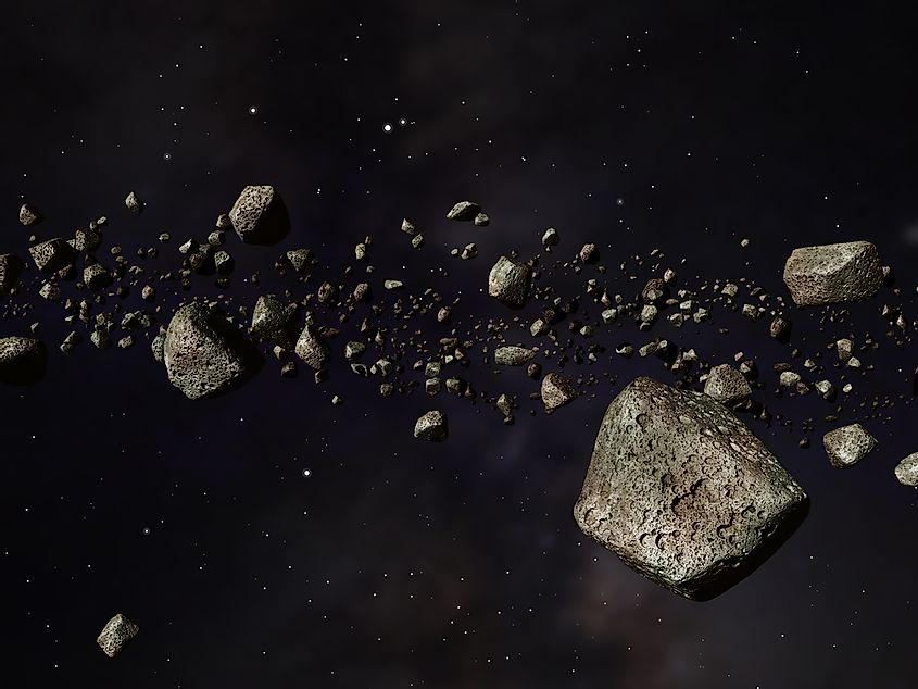 The steroid belt is also sometimes known as the main belt or main asteroid belt.