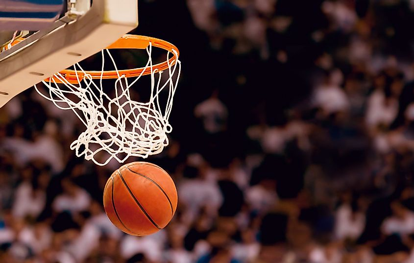 Basketball is a popular sport played throughout the world.