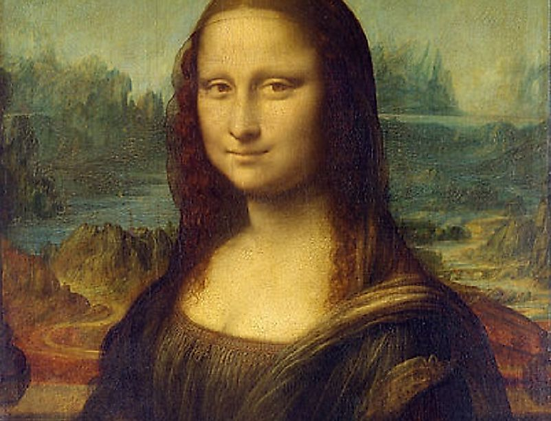 Leonardo da Vinci's 16th Century painting of the Mona Lisa is perhaps one of the most famous visual art pieces from the Renaissance.