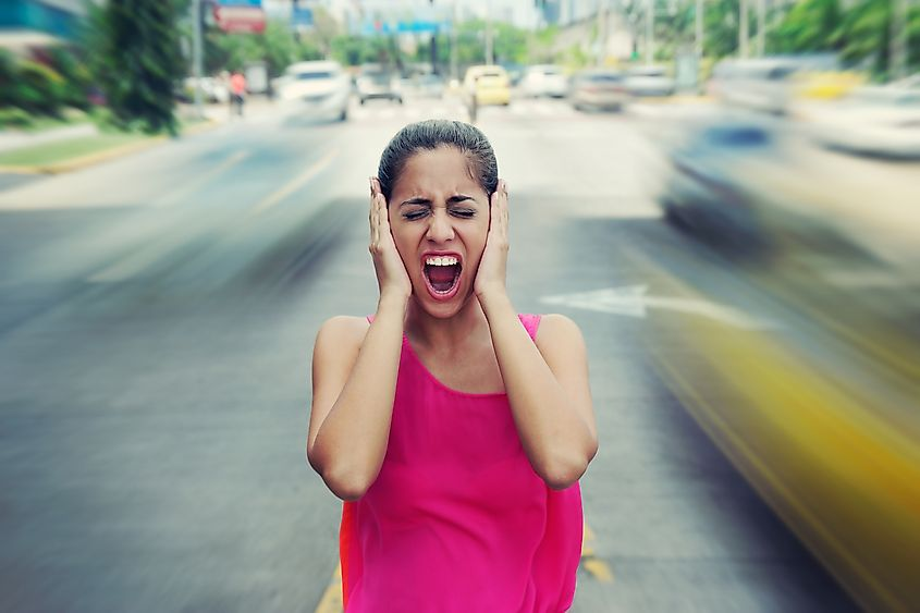 Noise pollution caused by heavy traffic is a common nuisance in our everyday lives. Image credit: Diego Cervo/Shutterstock.com