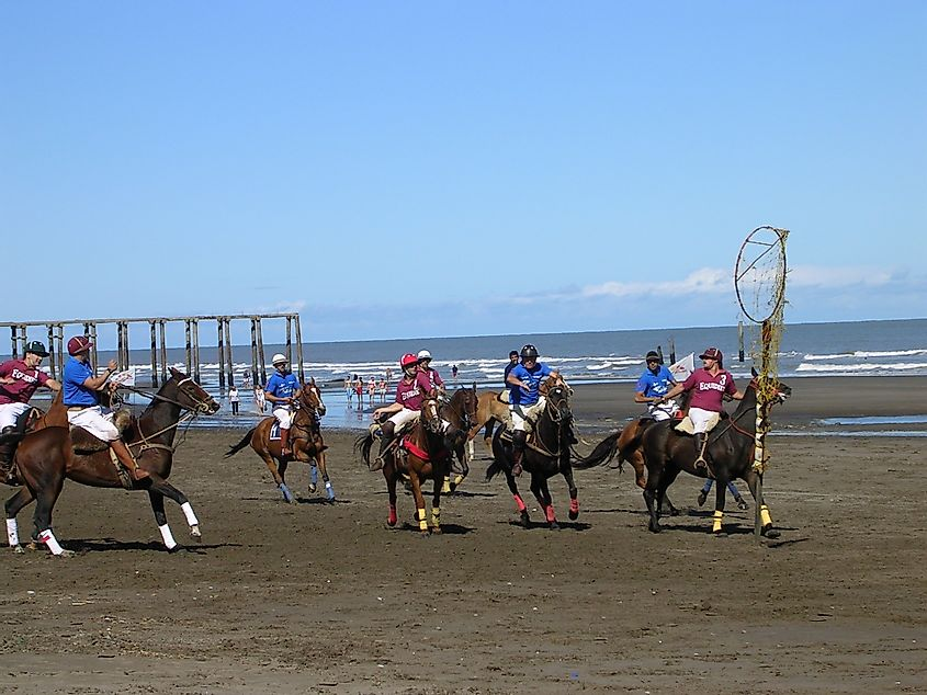 Played On Horseback, Pato Is The National Game Of Argentina