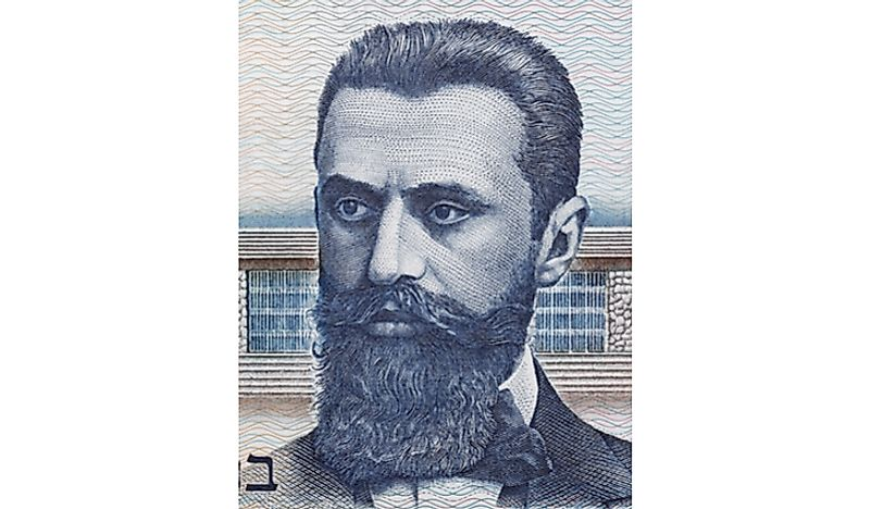 Theodor Herzl, the founder of the Zionist Organization.