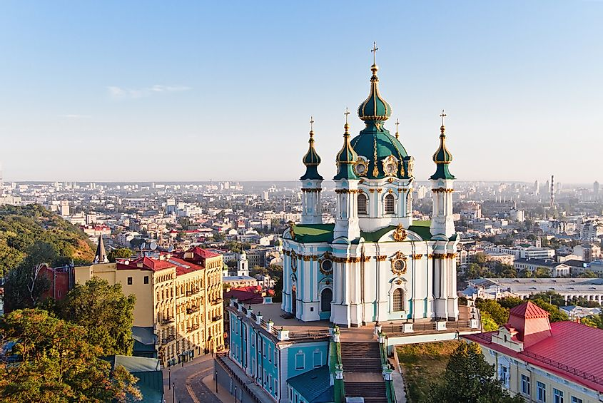 An Orthodox church in Kiev, Ukraine.