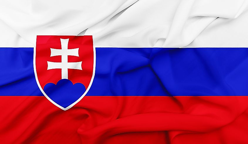 The official flag of Slovakia.