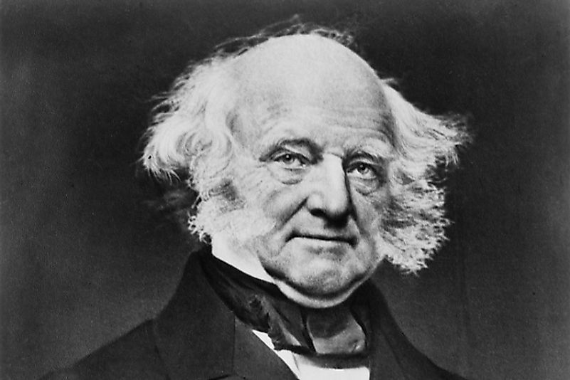 Martin Van Buren, the first U.S. Head of State to be born after the signing of the United States' Declaration of Independence from Great Britain.
