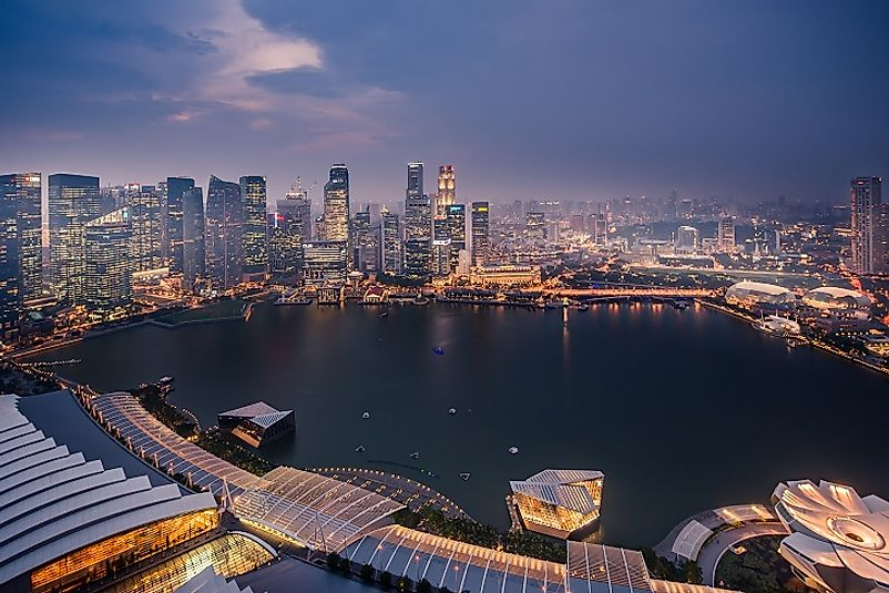 The bright lights and skyscrapers of Singapore attest to its economic prowess.