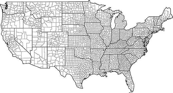 us counties map