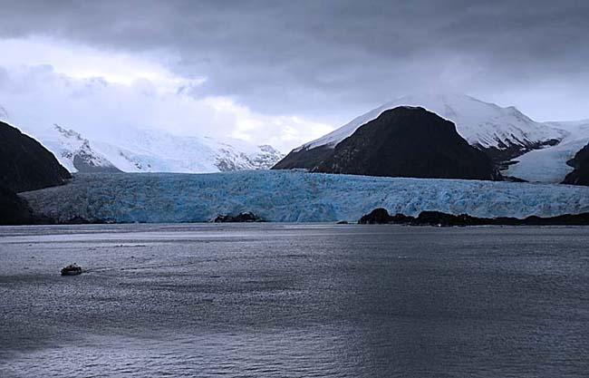 chile, amalia glacier, landscape